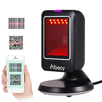 Aibecy Mp6300y 1d/2d/qr Omnidirectional Barcode Scanner, Usb Wired Bar Code