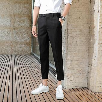 Puku housut kesä mies yritys rento yhdeksän pistettä puku housut
