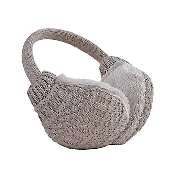 Knit Earmuffs Knitted Warm Earmuffs Soft Washable for Winter Outdoor Gray