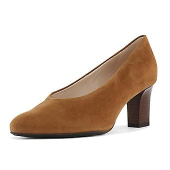 Peter Kaiser Mahirella Classic Mid Heel Court Shoes In Sable