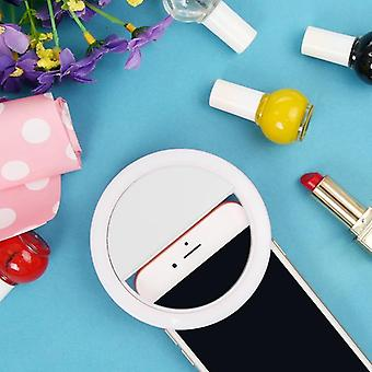 Portable Mini Led Ring Phone Flash Selfie Light Clip-on Video Light Night Lamp