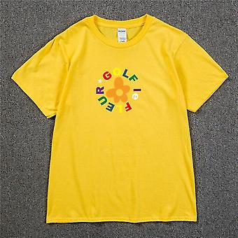 Nou Tyler Golf Wang Floare Skate Hip Hop T Shirt / femei