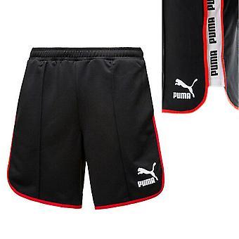 Puma Negru Roșu Super Mens Poliester Training Gym Fitness Pantaloni scurți 575219 01 UA91