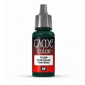 Vallejo Game Color 17ml Acrylic Paint 28 Dark green