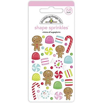 Doodlebug Design Visions of Sugarplums Shape Sprinkles