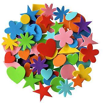 Dzieci b podstępne samoprzylepne kształty pianki rzemieślniczej do rękodzieła naklejki różne rozmiary 180 sztuk