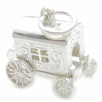 Eröffnung Zigeuner Wohnwagen Sterling Silber Charm .925 X 1 Zigeuner Charms - 4536