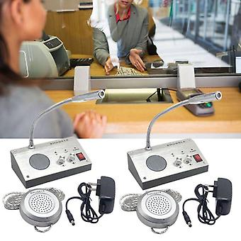 Dual Way Fenster Intercom System Bank Counter Interphone Zero-touch
