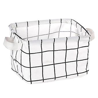 Diy Desktop Storage Basket Container Organizer Fabric Basket Home Desktop