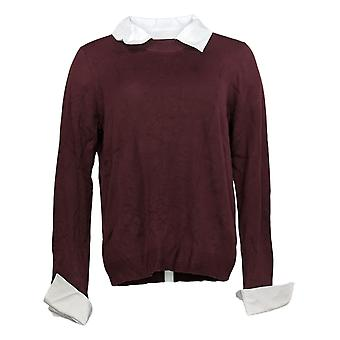 Laurie Felt Women's Sweater Layered Long Sleeve Red A384017