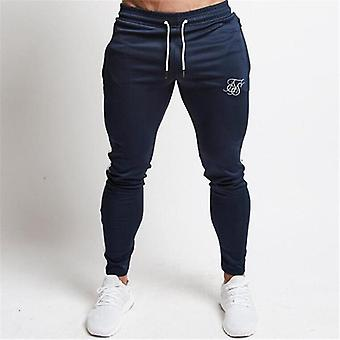 Men Joggers Sweatpants Silk Fitness Elastic Trousers Hip Hop Skinny Tracksuit