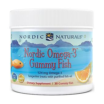 Nordic Omega-3 Gummies, 124mg Tangerine Treats 30 units