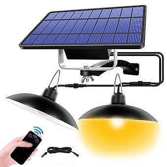 Solar Lights Ip65 Wasserdichte Lampe Beleuchtung Dual Head Led Garten im Freien