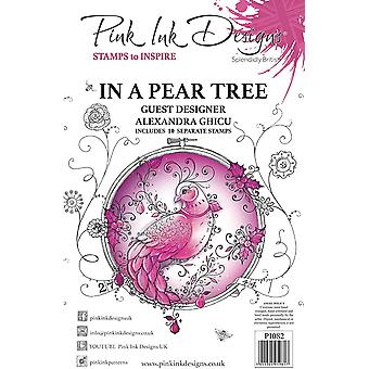 Pink Ink Designs In A Pear Tree A5 Clear Stamp Set
