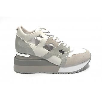 Sneaker Apepazza Mod. Heather White Piele Wedge Fund / Gri Ds20ap02