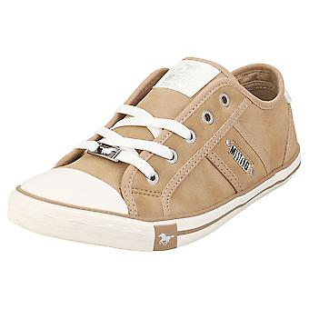 Mustang Lace Up Low Top Femmes Casual Trainers à Taupe