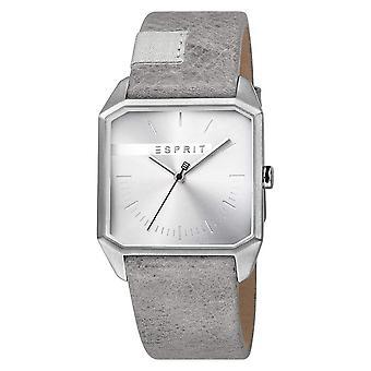 Esprit ES1G071L0015 Серый кожаный ремешок Мужские часы