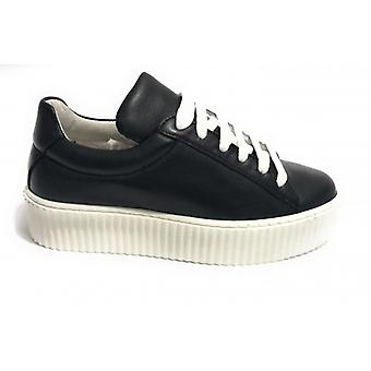 Shoes Woman Tony Wild Sneaker Bottom Creepers Leather Col. Black Ds18tw28