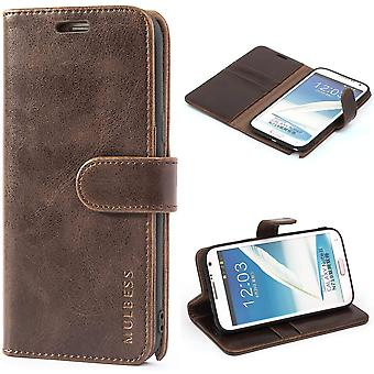 Mulbess Handyhlle fr Samsung Galaxy Note 2 Hlle Leder, Samsung Galaxy Note 2 Handy Hllen, Vintage