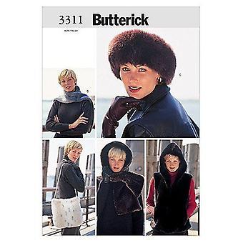 Butterick نمط الخياطة 3311 يخطئ سترة Headwrap غطاء الرأس وشاح حقيبة حجم XS-S