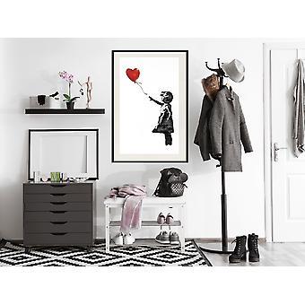 Juliste - Banksy: Tyttö ilmapallolla II-20x30