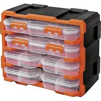 Alutec Assortment case set (L x W x H) 38 x 18 x 32 mm variable compartments 6 Parts