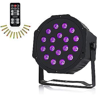 HanFei UV Schwarzlicht, 54W 18LED DMX512 UV LED Bhnenlicht mit 7 Beleuchtung Modi, DJ Atmosphre Licht