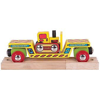 Bigjigs Wooden Railway Bulldozer surbaissées