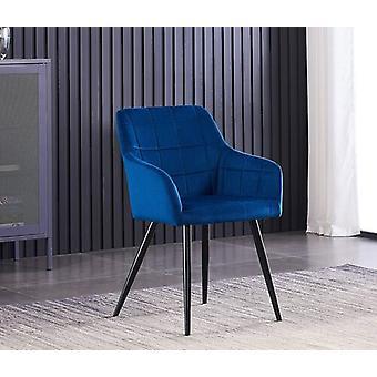 Lusso Lux Velvet Finish Dining Chair | Royal Blue