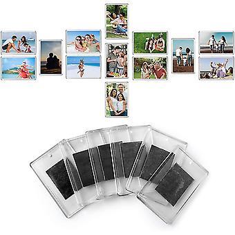 FengChun Rohlinge MagnetischeKhlschrank Fotorahmen (100 stecken) - 7cm x 4.5cm Bild Einsatz Gre,
