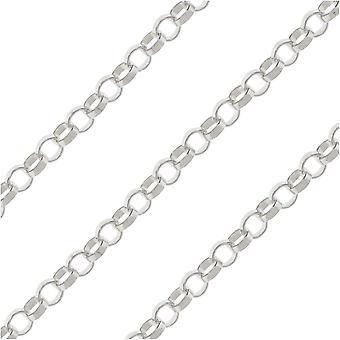 Sterling Silver Rolo -ketju, 1,25 mm, tuuman verran