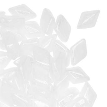 Tjeckisk glaspärlaDuo, 2-håls diamantformade pärlor 8x5mm, 8 gram, kritlyster