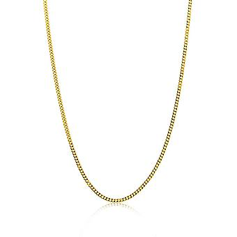 FengChun Kette Damen Panzer Halskette Gelbgold 14 Karat / 585 Gold, Lnge 45 cm Schmuck