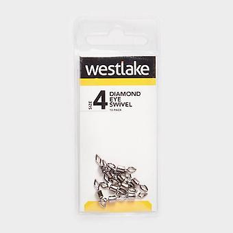 New Westlake Diamond Eye Swivel (Size 4) Silver