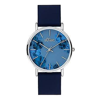 s.Oliver Analogueic Watch Quartz Woman with Silicone Strap SO-4077-PQ