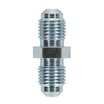 Sealey Bn3824Mc conector del tubo de freno 3/8 en Unf X 24Tpi macho a macho paquete de 10