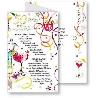 Simon Elvin 50th 1970 Födelsedagskort (Paket av 6)