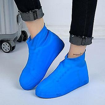 Zapatilla impermeable, cubierta de botas, overshoes, reutilizable, a prueba de lluvia, a prueba de derrapes