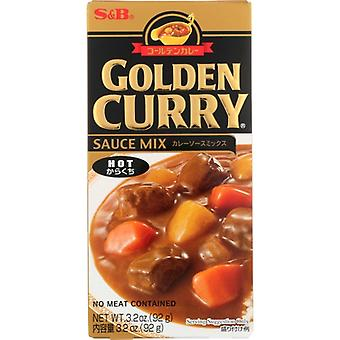 S & B Sauce Mix Hot Gldn Curry, Case of 12 X 3.2 Oz