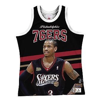 Mitchell & Ness Nba Philadelphia 76ERS Allen Iverson MSTKSC19048P76BLCKAIV basketball hele året menn t-skjorte