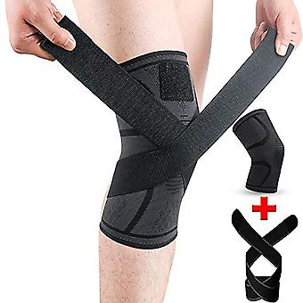 Knee Brace For Pain Support Compression Sleeves With Removable Bands