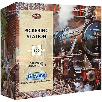 Gibsons Pickering Station pussel i presentförpackning (500 stycken)