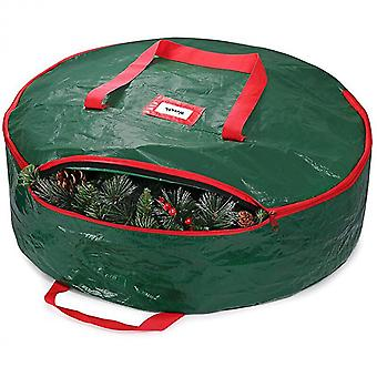 Christmas Wreath Storage Bag Holiday Organizer Wreath Container Box With Handle