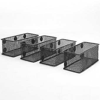Magnetische Büro Aufbewahrungskörbe - Packung mit 4 | Pukkr