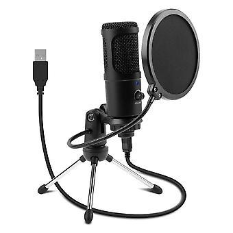 Studio condenser karaoke usb microphone with filter