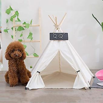 Pure White Pet Tent Nest For Small And Medium Dogs and Cats Foldable Playhouse, Style:Without