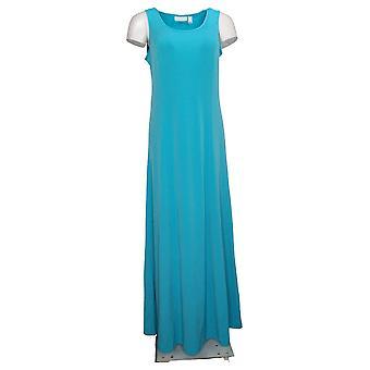 Susan graver vestido líquido punto sin mangas Maxi azul A303412