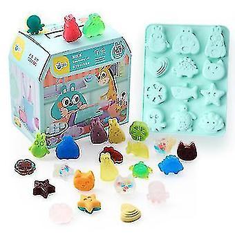 Cartoon Animal Fun Handmade Soap Toddler Creative Diy Kit(Animal2)