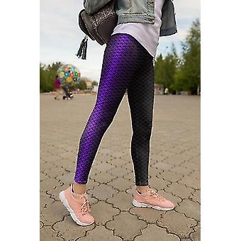 Hosiery mermaid printed leggings capris