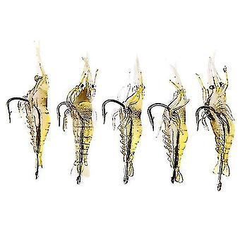 20kpl katkarapujen kalastus houkutin pehmeä katkarapujen kalastus houkutin koukulla